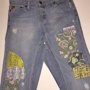 Hollister Denim Patch Jeans SZ 5R